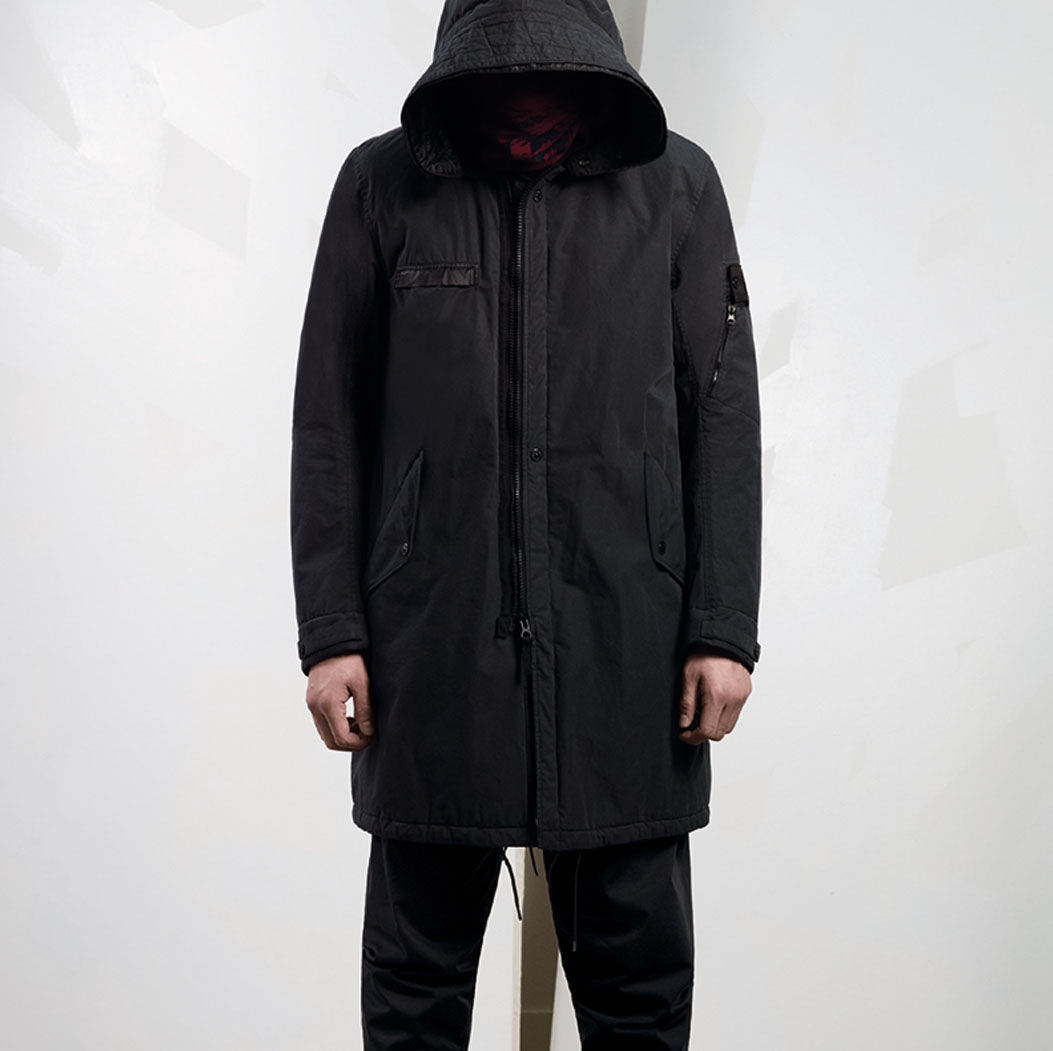 STONE ISLAND SHADOW PROJECT_2LAYER FABRIC GARMENT DYED WITH ANTI-DROP AGENT WIND AND WATER RESISTANT_BREATHABLE